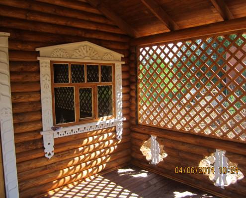Деревянные решетки для веранды своими руками 72