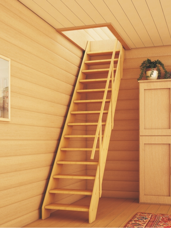 Лестница на чердак на даче своими руками