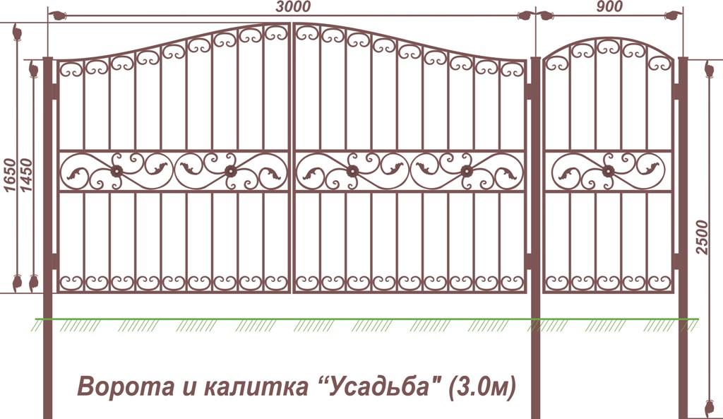 Ворота и калитка на даче