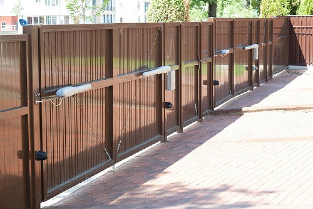 Ворота из алюминиевого профиля