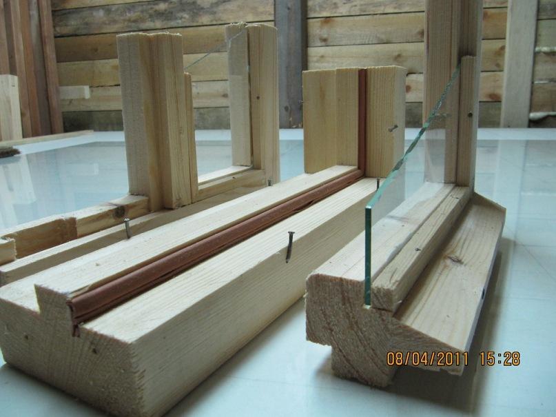 Сделать балконную раму из дерева своими руками 19