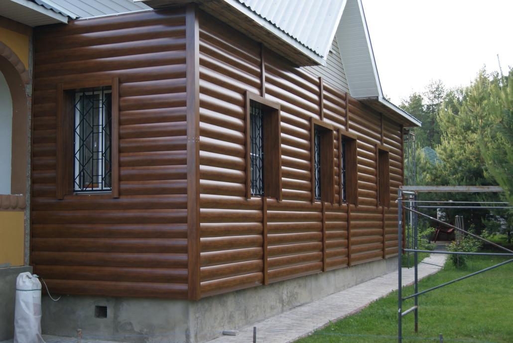 Фото домов из блок хауса металлического