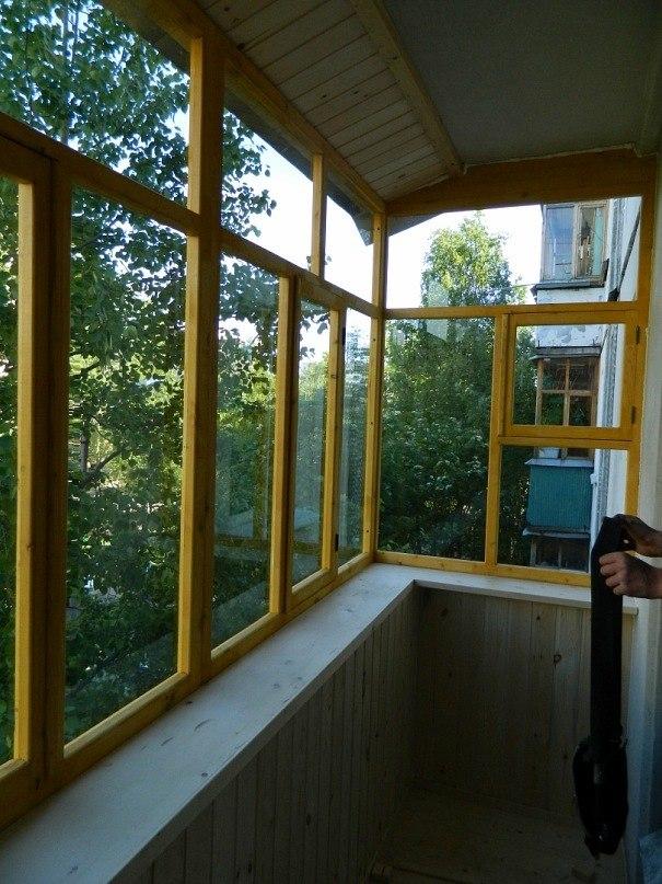 Фото деревянное остекление - ремонт квартир северодвинск окн.