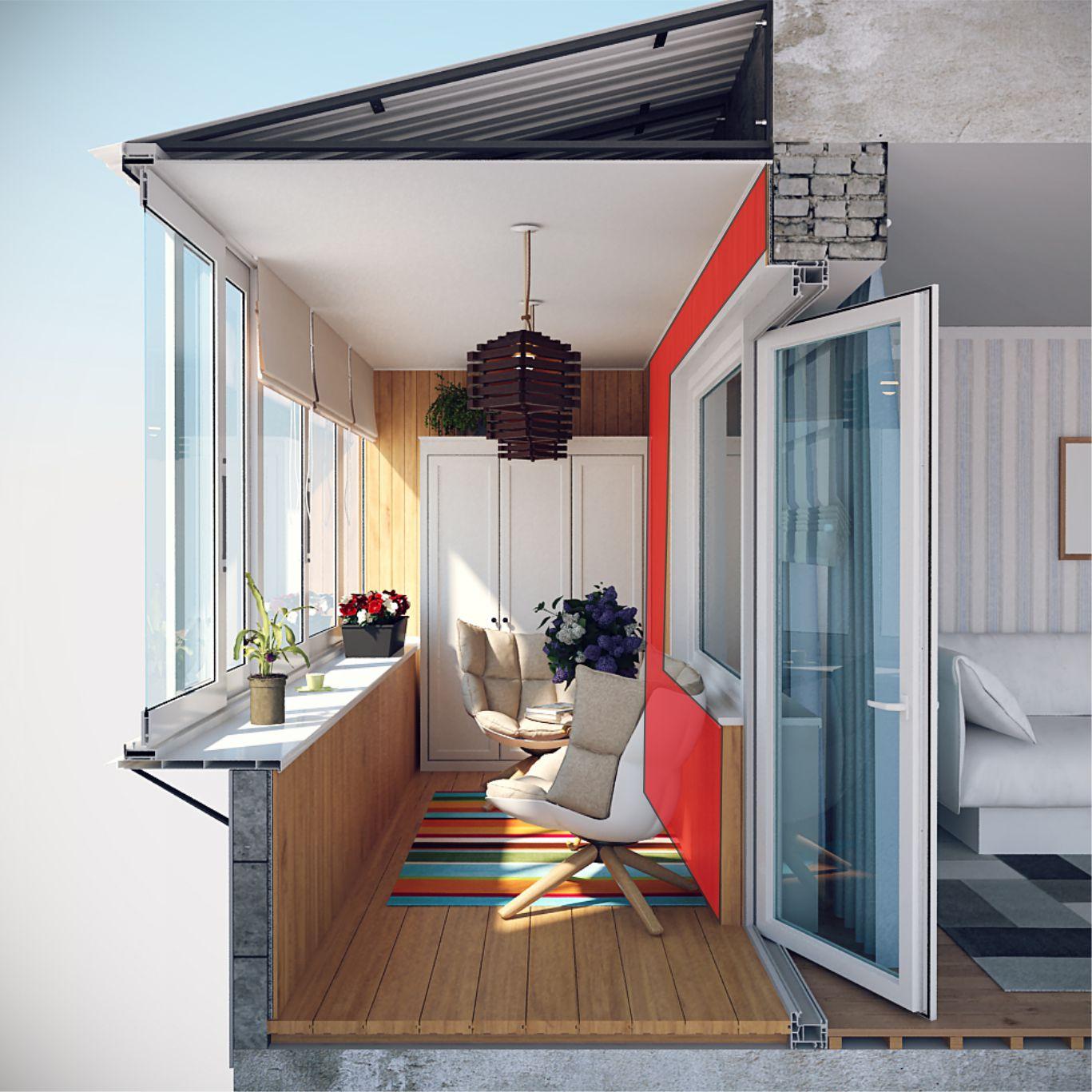 Остекление и отделка балкона под ключ от компании новые окна.